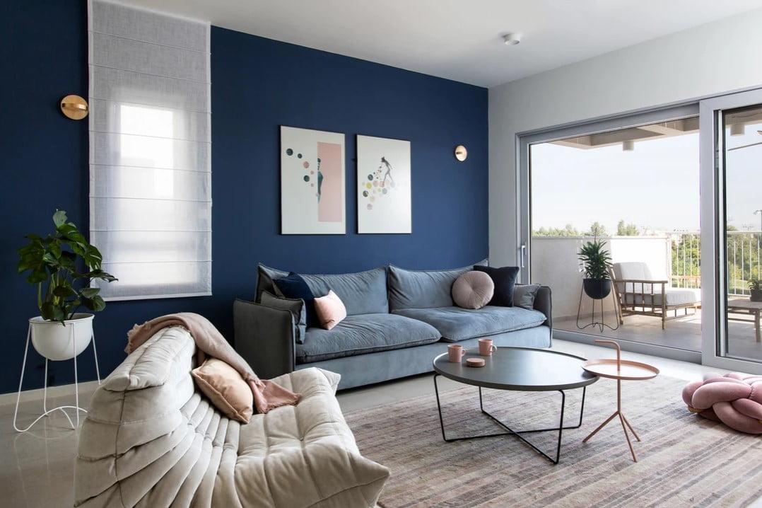 Mur bleu photo studio details.il