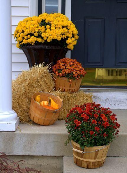 déco porche entrée automne