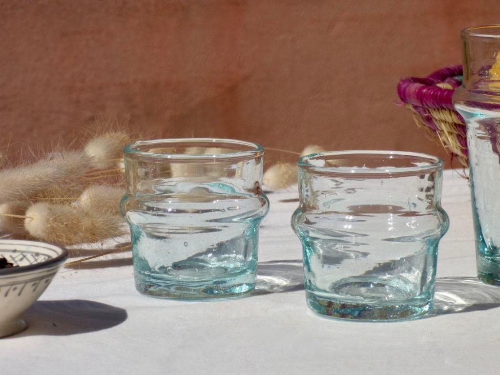 Verre Beldi traditionnel - verre soufflé recyclé - SoccoSo