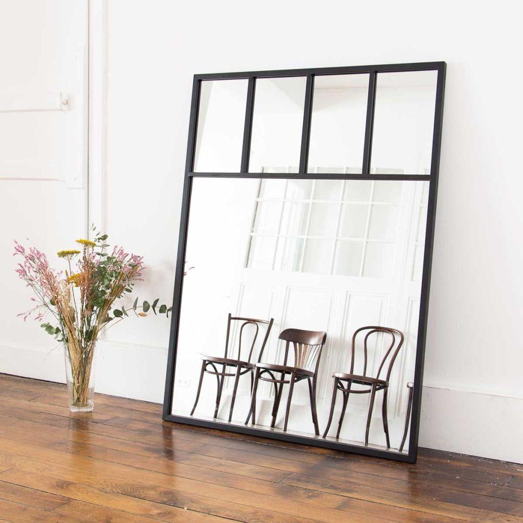 Miroir style fenêtre verrière