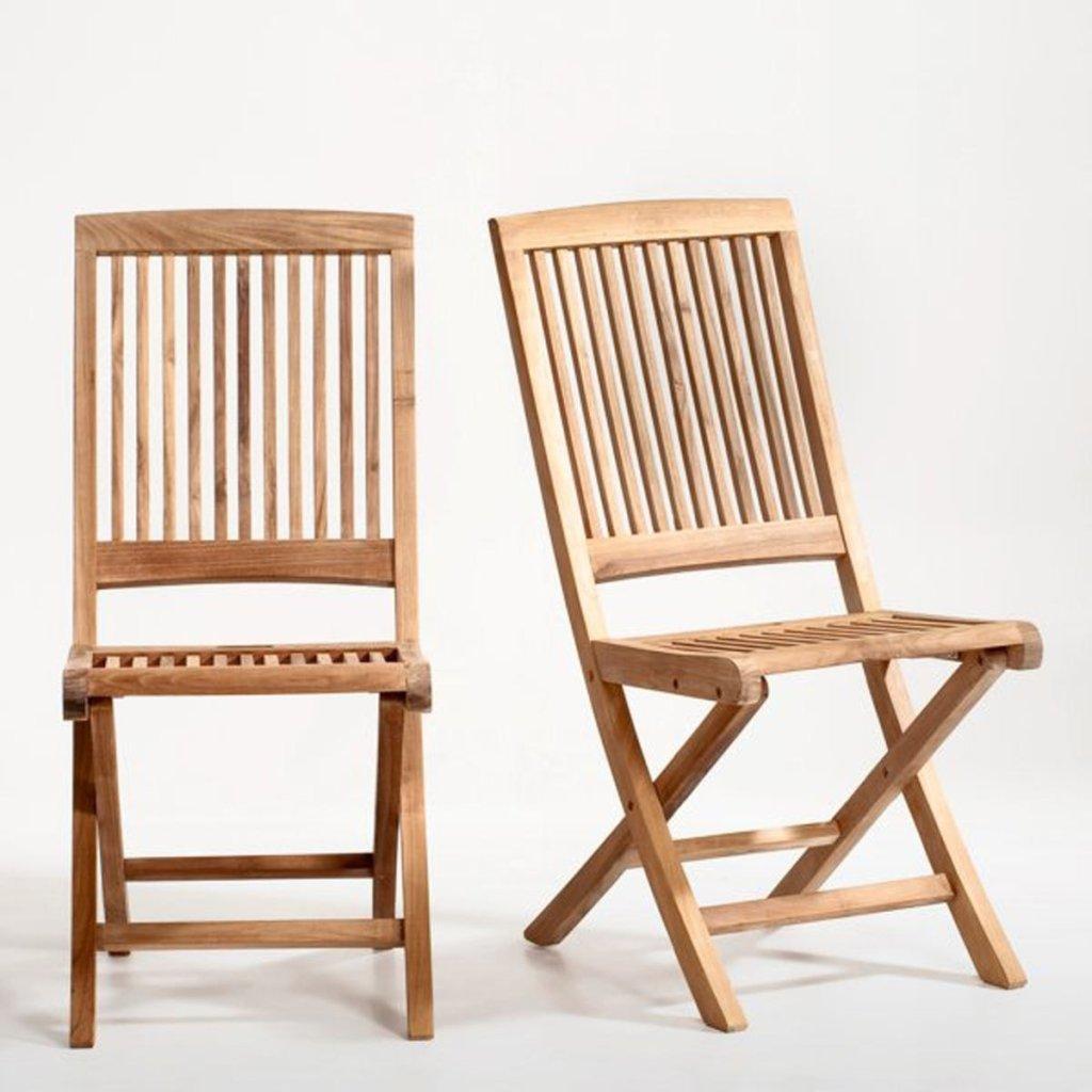 chaises de jardin en teck