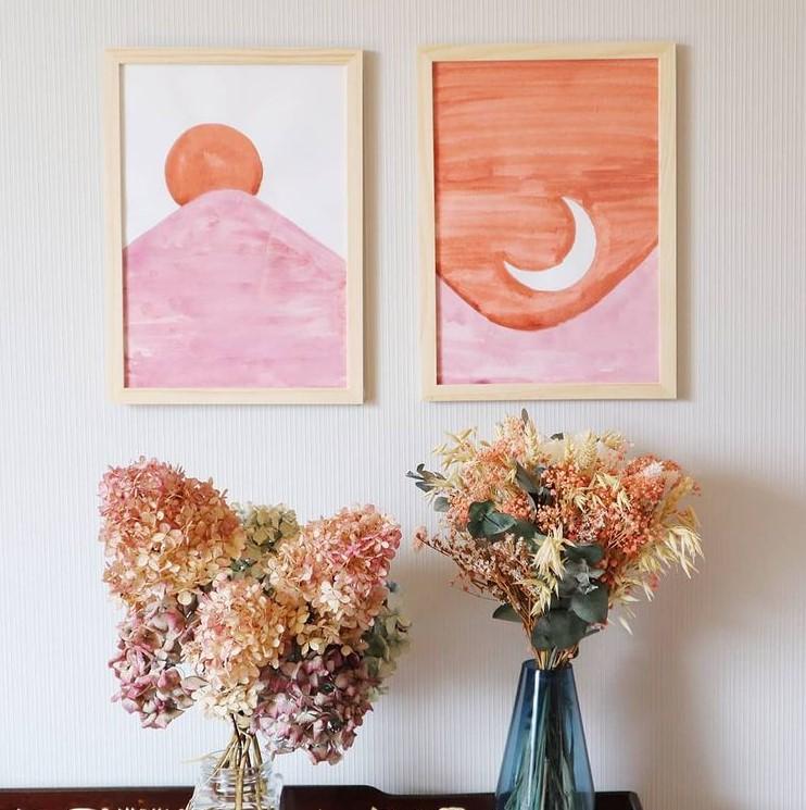 Déco murale DIY facile à l'aquarelle