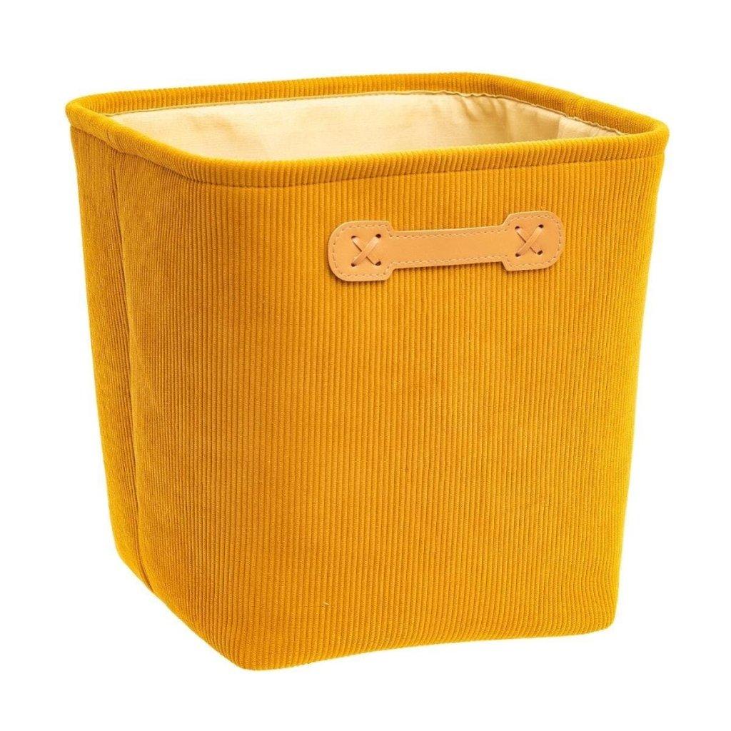 panier en velour moutarde