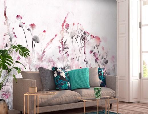 Bimago papier peint fleuri