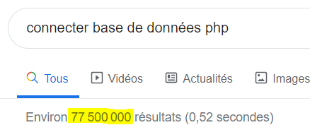Recherche en français