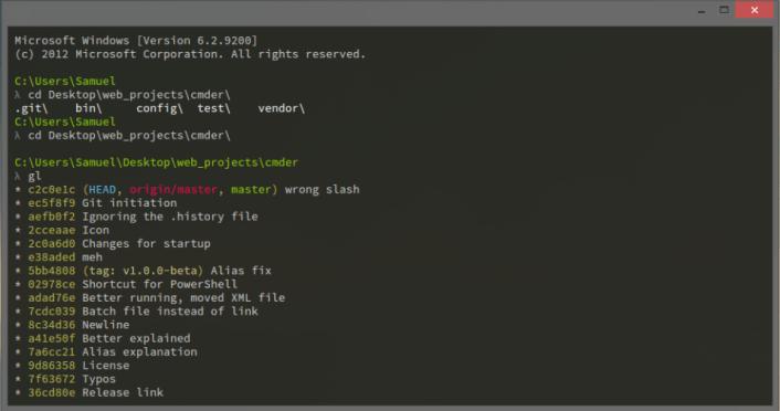 Cmder, un invité de commande plus sympa à utiliser sous Windows