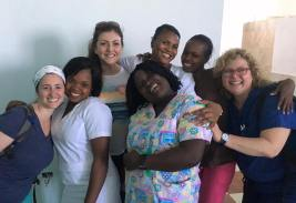 The Espwa team with the nursing staff at the hospital