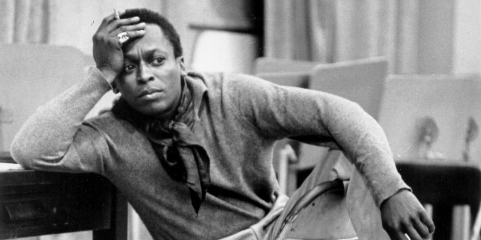 Miles Davis at 30th Street Studios in New York City.