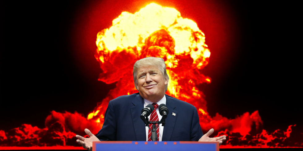 Donald Trump in Front of Nuclear Explosion