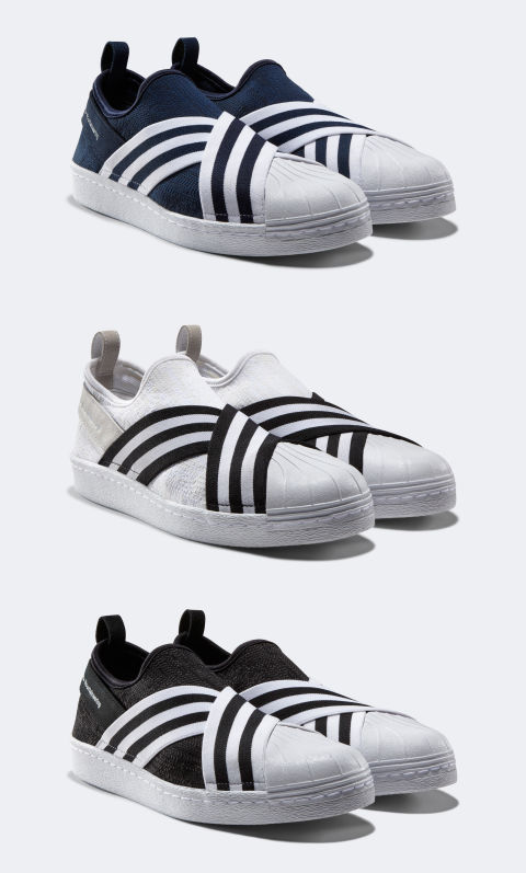 You can always count on Japanese brand White Mountaineering to offer something completely unexpected, especially in its collaborations with Adidas. This week is no different, delivering a rarely seen slip-on version of the Superstar that's criss-crossed with a branded ribbon. We can pretty much guarantee that if you cop and rock these, you'll be the only one in the room with them on. And maybe you're into that. Release: 2/24$160, adidas.com