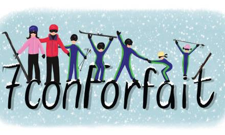 Una Familia genial de 7 Esquiadores