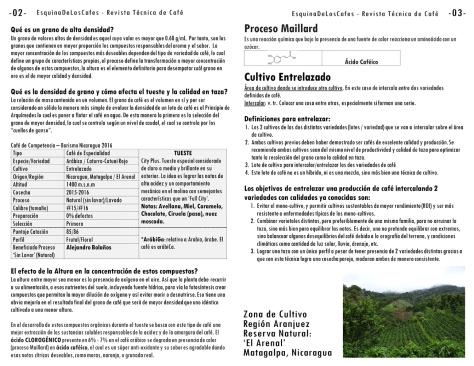 Revista-Tecnica-de-Cafe-Grano de Cafe de Alta Densidad Proceso Maillard Cultivo Entrelazado Efecto de la Altura Region Aranjuez, Santa Marta, Reserva Natural El Arenal