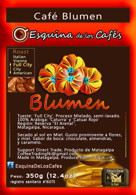 Café Blumen: A coffee I create for the German taste: Almonds, Strawberry, and Caramel, flowers.