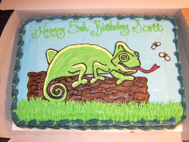 Lizard Chameleon Nature Cake