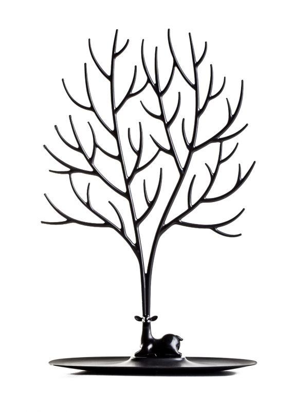 suporte para acessórios em forma de veado preto
