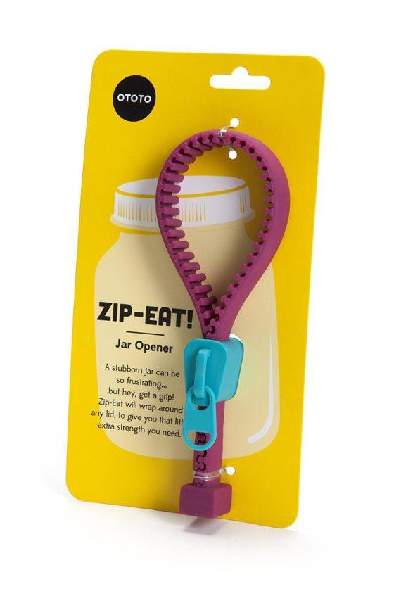 fecho zip roxo e azul para abrir frascos
