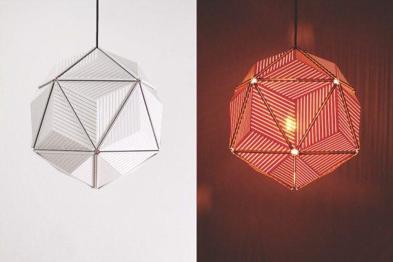 QL10248-WH Icosa Stripe Lamp 1 lifestyle