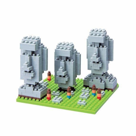 blocos nanoblock ilha de páscoa