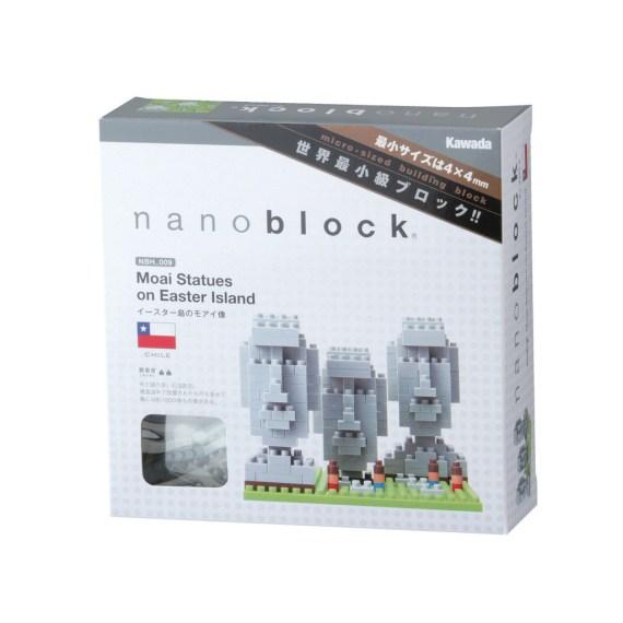 blocos nanoblock ilha de páscoa embalagem