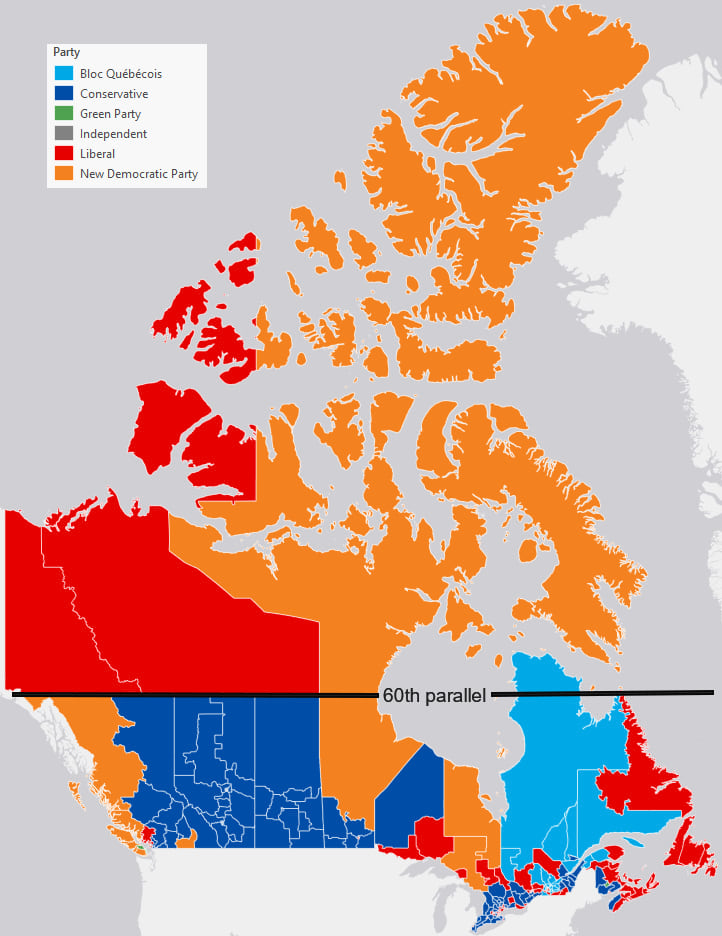 Canadian Election Map : canadian, election, Mercator,, Square