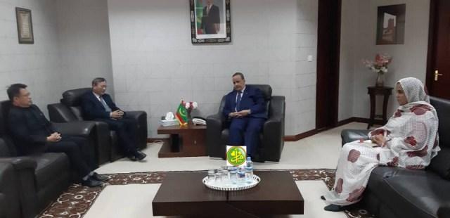 اجتماع وزير خارجية موريتانيا مع السفير الصيني (و م أ)