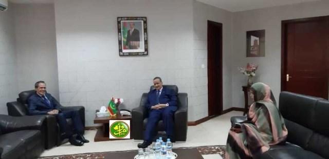 اجتماع وزير خارجية موريتانيا بالسفير المغربي (و م أ)
