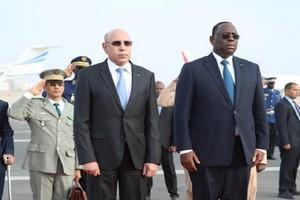 الرئيسان السنغال والموريتاني في داكار (المصدر: الانترنت)