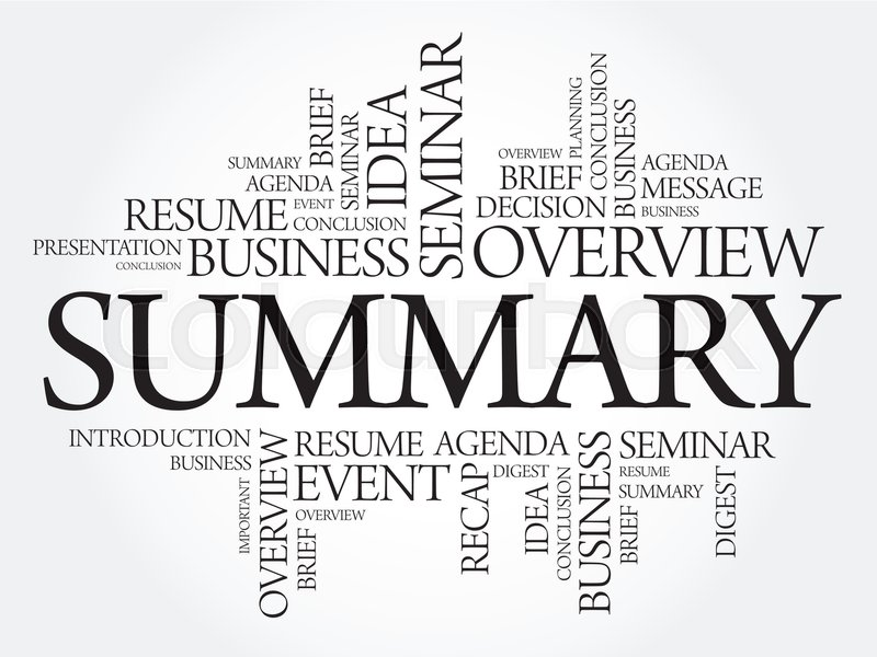 The Easiest Way to Write a Summary