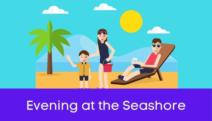 सागर के किनारे एक शाम पर निबंध Evening at the Seashore Essay in Hindi
