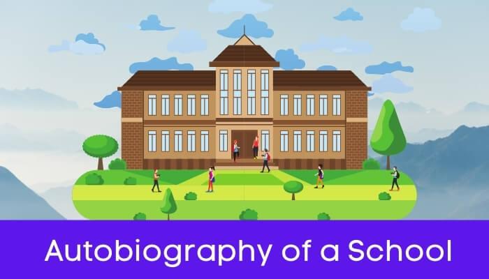 एक पाठशाला की आत्मकथा हिंदी निबंध - Autobiography of School Essay in Hindi