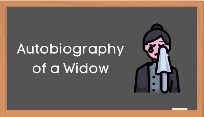 एक विधवा की आत्मकथा हिंदी निबंध - Autobiography of Widow Essay in Hindi
