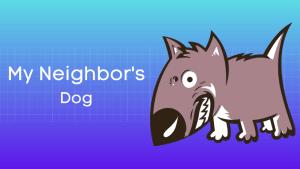 मेरे पड़ोसी का कुत्ता हिंदी निबंध My Neighbor's Dog Essay in Hindi