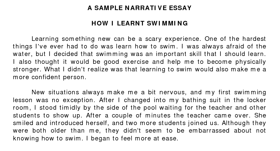 Narrative Essay Examples Academic Stepbystep Guide