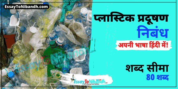 Essay on Plastic Pollution In Hindi 80 Words