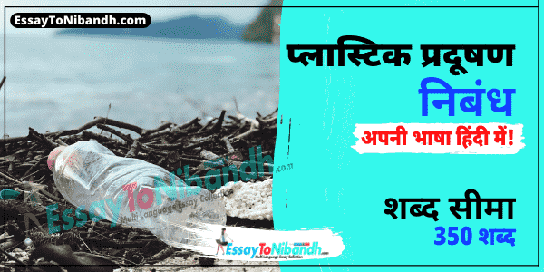 Plastic Pollution Essay In Hindi 350 Words