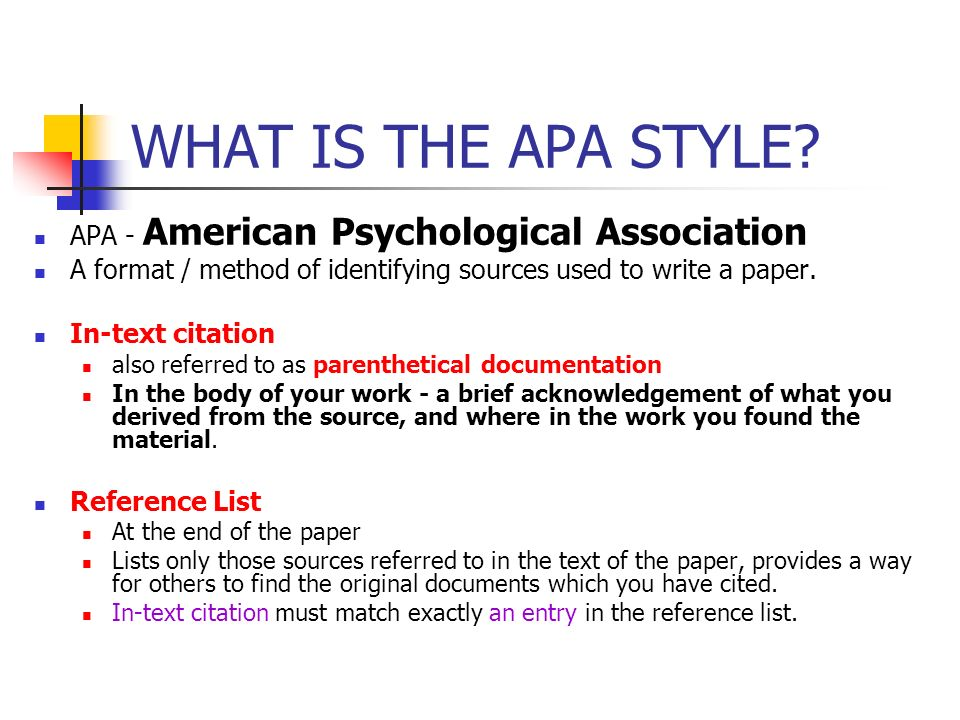 what is apa formating