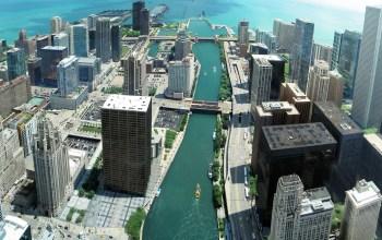 Chicago, IL and Lake Michigan