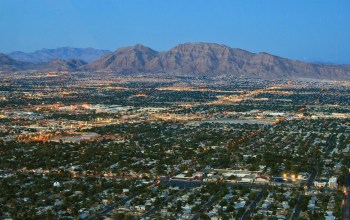 Aerial View of Las Vegas, NV