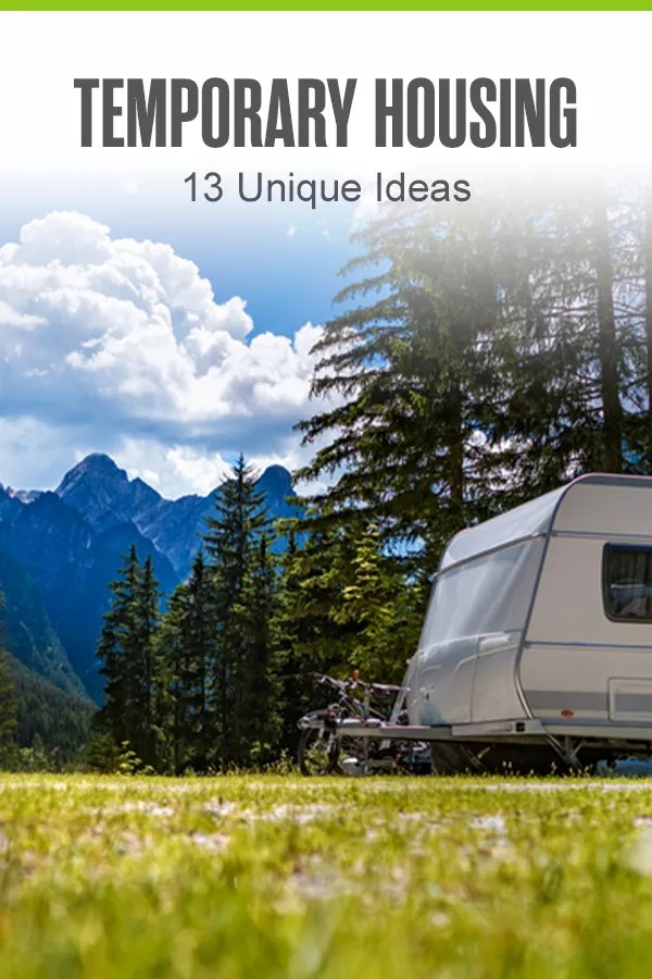 Searching for alternative housing ideas while you're between homes? In this guide, Extra Space Storage shares 13 unique ideas for temporary living solutions, including tiny homes, sprinter vans, micro-studios, and more! via @extraspace