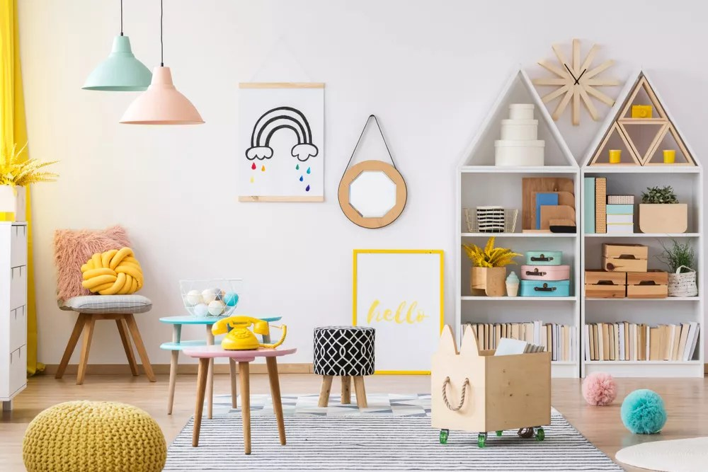 Kids playroom with toys