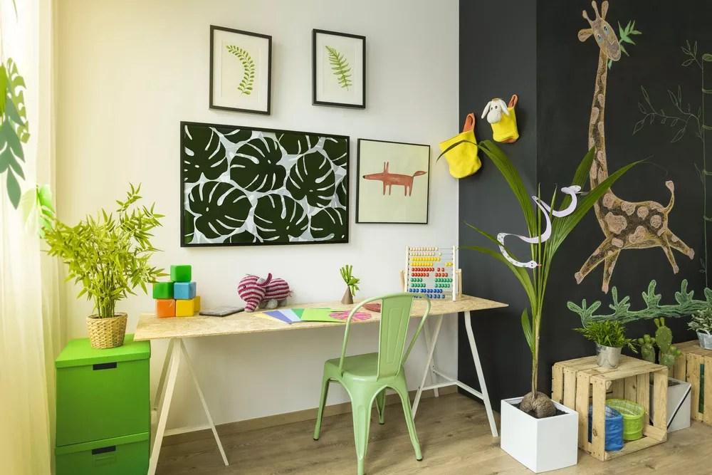 How to Design & Organize a Kids Study Room via @extraspace