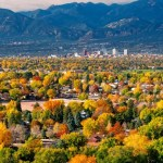 Skyline view of Colorado Springs, CO