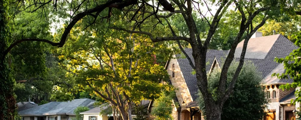 Shaded Dallas Home in the Suburbs