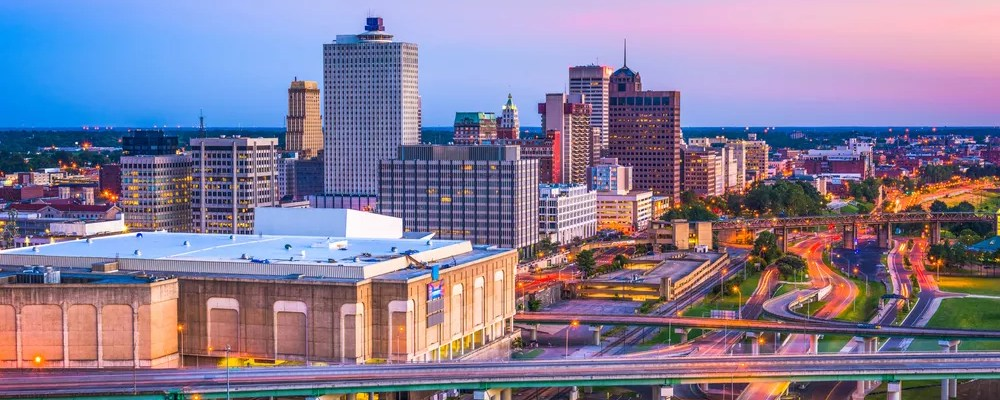 Skyline of Downtown Memphis