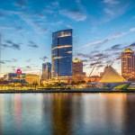 Milwaukee, WI skyline at dusk