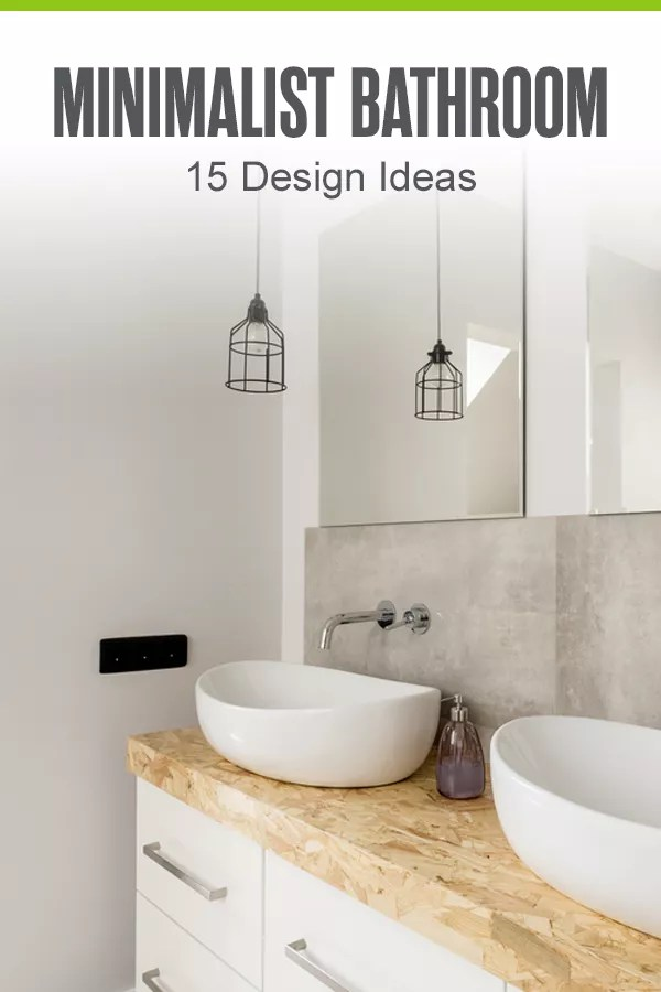 Thinking of incorporating minimalist design into your bathroom? Check out this guide to discover 15 simple bathroom design ideas that embrace minimalism! via @extraspace