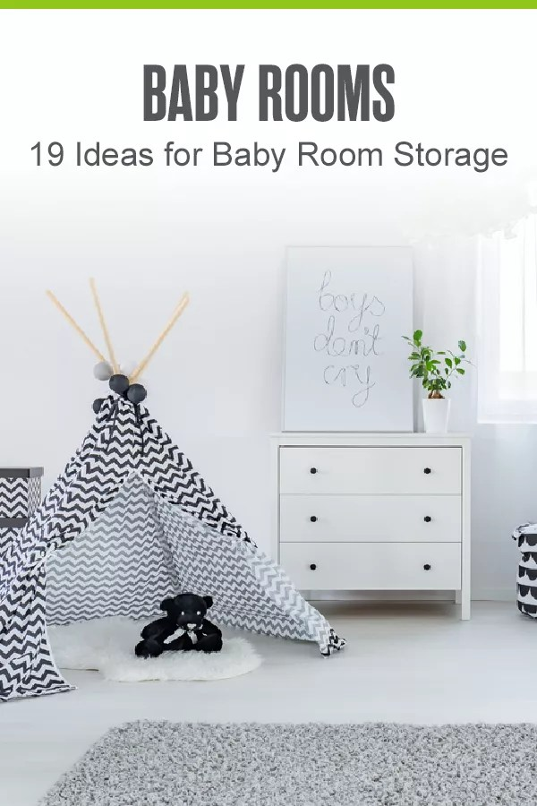 Looking for creative storage ideas for your baby room? Check out these 19 nursery organization and storage ideas for maximizing space! via @extraspace