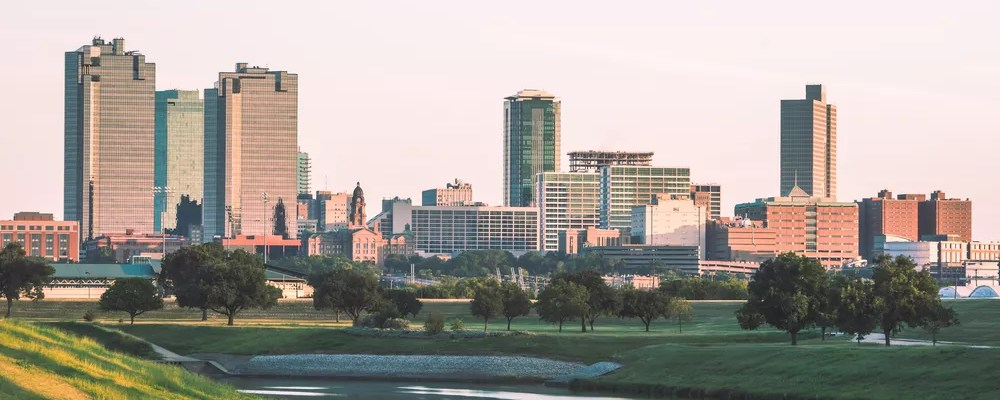 Fort Worth, TX skyline during morning