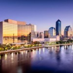skyline of Jacksonville, Florida looking from the Atlantic Ocean