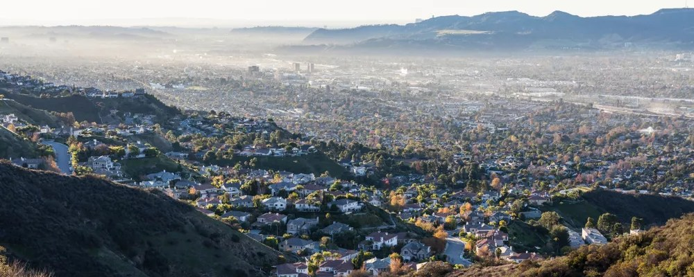 View of Los Angeles Suburbs from the Hills